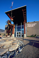 Osoyoos, BC, South Okanagan Valley, British Columbia, Canada - Metal Indian Sculpture and Visitor Tourist Information Centre
