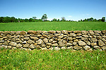 New Hampshire: White Mountains.  Shake Village of Canterbury, stone fence.  Photo #: nhwhit104..Photo copyright Lee Foster, www.fostertravel.com, 510/549-2202, lee@fostertravel.com