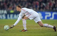 FUSSBALL   CHAMPIONS LEAGUE   SAISON 2011/2012   ACHTELFINALE HINSPIEL FC Basel - FC Bayern Muenchen      22.02.2012 Torwart Manuel Neuer (FC Bayern Muenchen)