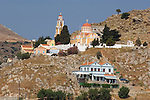 Church on the hilltop at simi, Greece