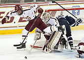 Bill Arnold (BC - 24), Brian Billett (BC - 1) - The Boston College Eagles defeated the visiting University of New Hampshire Wildcats 6-2 on Friday, December 6, 2013, at Kelley Rink in Conte Forum in Chestnut Hill, Massachusetts.