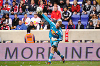 New York Red Bulls goalkeeper Ryan Meara (18). The New York Red Bulls defeated the Colorado Rapids 4-1 during a Major League Soccer (MLS) match at Red Bull Arena in Harrison, NJ, on March 25, 2012.