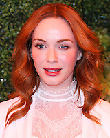 PACIFIC PALISADES, CA, USA - OCTOBER 11: Christina Hendricks arrives at the 5th Annual Veuve Clicquot Polo Classic held at Will Rogers State Historic Park on October 11, 2014 in Pacific Palisades, California, United States. (Photo by Xavier Collin/Celebrity Monitor)