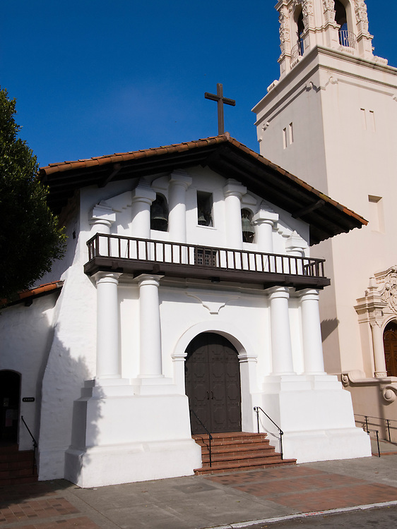 California: San Francisco. Mission Dolores, front. Photo copyright Lee Foster. Photo #: 26-casanf78596