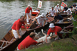 SWAN UPPING RIVER THAMES STOCK PHOTOS PHOTOGRAPHY IMAGES ENGLAND UK