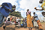 Sunday morning worship at the United Methodist Church in Pisak, a small village in Central Equatoria State in Southern Sudan. NOTE: In July 2011, Southern Sudan became the independent country of South Sudan
