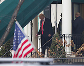 President-elect of The United States Donald J. Trump  departs  Blair House in Washington, DC to attend a church service at St. John's Episcopal Church in Washington, DC, before he is inaugurated as the 45th President of The United States, January 20, 2017. <br /> Credit: Chris Kleponis / Pool via CNP