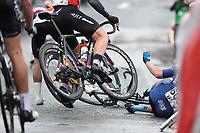 Picture by Alex Whitehead/SWpix.com 12/05/2017 -  Tour Series Round 3 Northwich - Men's Race - crash