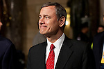 Supreme Court Chief Justice John Roberts arrives for President Barack Obama's State of the Union address in the U.S. Capitol on Tuesday, January 24, 2012 in Washington, DC.