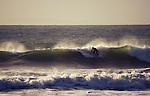 Surfing at Compton Bay, Isle of Wight, England