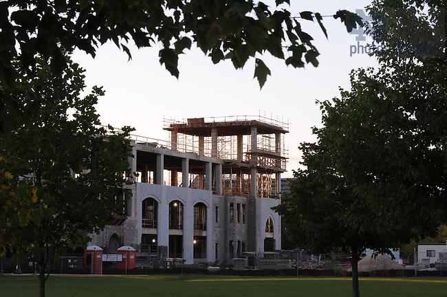Stinson-Remick Hall under construction, September 2008..Photo by Matt Cashore/University of Notre Dame