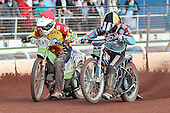 Heat 9: Joe Screen and Robert Mear - Birmingham Brummies vs Lakeside Hammers - Elite League Speedway - 21/07/11 - MANDATORY CREDIT: TGSPHOTO - Self billing applies where appropriate - 0845 094 6026 - contact@tgsphoto.co.uk - NO UNPAID USE.