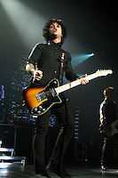 "American alternative rock band Green Day, fronted by singer Billie Joe Armstrong, plays during their ""21st Century Breakdown"" tour, to a near-capacity crowd, Saturday, July 4th, 2009, at GM Place in Vancouver. (Scott Alexander/pressphotointl.com)"