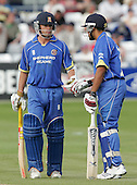 Mark Pettini (left) and Ravinder Bopara of Essex - Essex Eagles vs Middlesex Crusaders - Friends Provident Trophy at Ford County Ground, Chelmsford - 20/05/07 - MANDATORY CREDIT:  Gavin Ellis / TGSPHOTO - IMAGES USED WILL BE INVOICED AT STANDARD RATES