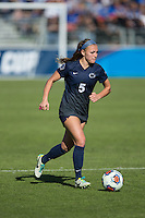 Cary, North Carolina - Sunday December 6, 2015: Maddie Elliston (5) of the Penn State Nittany Lions controls the ball during second half action against the Duke Blue Devils at the 2015 NCAA Women's College Cup at WakeMed Soccer Park.  The Nittany Lions defeated the Blue Devils 1-0.
