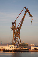 Crane in Southampton Dock in England, UK