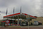 Montevideo, Uruguay - An Esso station in the carrasco section of the city