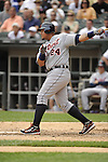 CHICAGO - JULY 27:  Miguel Cabrera #24 of the Detroit Tigers bats against the Chicago White Sox on July 27, 2011 at U.S. Cellular Field in Chicago, Illinois.  The White Sox defeated the Tigers 2-1.  (Photo by Ron Vesely)  Subject: Miguel Cabrera