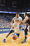 UK forward, Skal Labissiere dribbles past a defender in their game against Miss. St. at Rupp Arena in Lexington, Ky. on Tuesday, January 12, 2016. Photo by Josh Mott | Staff.