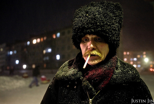 Alexander Yelpayev is a Cossack and lives, unemployed, in the outskirt of Vorkuta town. Vorkuta is a coal mining and former Gulag town 1,200 miles north east of Moscow, beyond the Arctic Circle, where temperatures in winter drop to -50C. <br /> Yelpayev worked for years as a miner until his unit closed down. <br /> Here, whole villages are being slowly deserted and reclaimed by snow, while the financial crisis is squeezing coal mining companies that already struggle to find workers.<br /> Moscow says its Far North is a strategic region, targeting huge investment to exploit its oil and gas resources. But there is a paradox: the Far North is actually dying. Every year thousands of people from towns and cities in the Russian Arctic are fleeing south. The system of subsidies that propped up Siberia and the Arctic in the Soviet times has crumbled. Now there&rsquo;s no advantage to living in the Far North - salaries are no higher than in central Russia and prices for goods are higher.