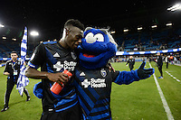San Jose, CA - Saturday, March 04, 2017: Fatai Alashe, Q after a Major League Soccer (MLS) match between the San Jose Earthquakes and the Montreal Impact at Avaya Stadium.