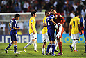 (R-L) Charles (BRA), Naoki Kawaguchi (JPN), JULY 3rd, 2011 - Football : Charles (R) of Brazil consoles Naoki Kawaguchi of Japan after the 2011 FIFA U-17 World Cup Mexico Quarterfinal match between Japan 2-3 Brazil at Estadio Corregidora in Queretaro, Mexico. (Photo by FAR EAST PRESS/AFLO).