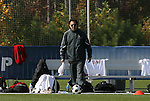 11 November 2008: NC State head coach George Tarantini. North Carolina State University Wolfpack defeated the Virginia Tech Hokies 3-1 at Koka Booth Stadium at WakeMed Soccer Park in Cary, NC in a men's ACC tournament first round game.
