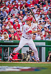 6 April 2015: Washington Nationals outfielder Matt den Dekker in action during the Home Opening Game against the New York Mets at Nationals Park in Washington, DC. The Mets rallied to defeat the Nationals 3-1 in their first meeting of the 2015 MLB season. Mandatory Credit: Ed Wolfstein Photo *** RAW (NEF) Image File Available ***