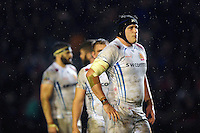 Mitch Lees of Exeter Chiefs looks on during a break in play. Aviva Premiership match, between Leicester Tigers and Exeter Chiefs on March 3, 2017 at Welford Road in Leicester, England. Photo by: Patrick Khachfe / JMP