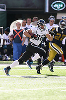 09/18/11 East Rutherford, NJ: Jacksonville Jaguars tight end Zach Miller #86 during an NFL game played at Met Life Stadium between the New York Jets and the Jacksonville Jaguars. The Jets defeated the Jaguars 32-3