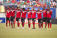 EAST RUTHERFORD, NJ - Sunday July 19, 2015: Panama defeats Trinidad & Tobago in a penalty shoot-out in the quarter-finals of the 2015 CONCACAF Gold Cup at MetLife Stadium in the Meadowlands, home of the New York Jets and Giants.