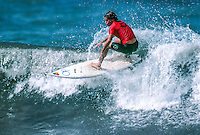 Two Times World Surfing Champion Tom Curren (USA) competing in the 1989 Arena Surf Masters at the Grand Plage, Biarritz, France.  : Photo: Joliphotos.com
