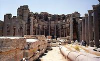 Libia, Leptis Magnia.Considerato il più bel sito romano del Mediterraneo.Basilica dei Severi.Libya, Leptis Magna.Considered the best Roman site in the Mediterranean