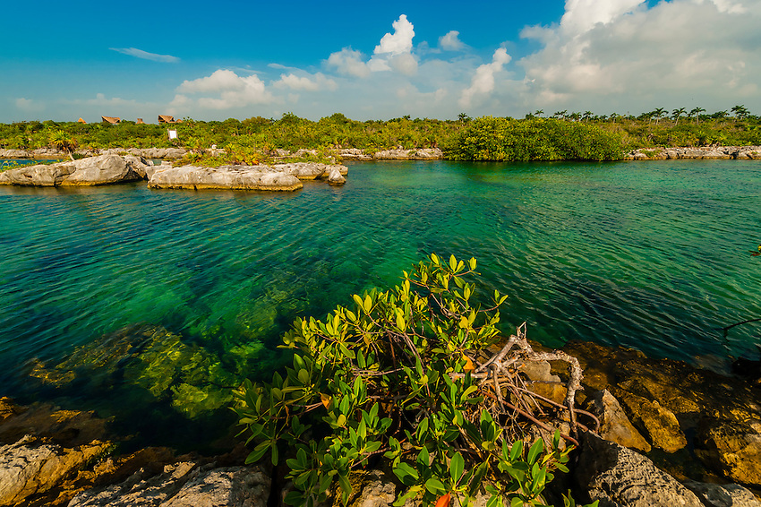 The Caleta Yaku lagoon, near Riviera Maya, Mexico.