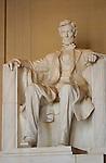 Abraham Lincoln, Daniel Chester French 1922, Lincoln Memorial, National Mall, Washington DC