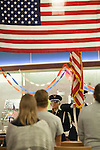 The Air Force ROTC present the colors during a moment of silence during the Veteran's Day Rememberence at Nelson Commons on November 11, 2015. Photo by Kaitlin Owens