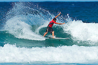 """Coolangatta, Queensland, Australia (Sunday February 13th 2011): Joel Parkinson (AUS).   SNAPPER SURFRIDERS CLUB have confirmed their status as Australia's premier boardriding club by winning the 2011 Rhythm Kirra Teams Challenge in excellent 1m (3feet) surf at Duranbah Beach on the southern Gold Coast..It was Snapper's 9th win of this prestigious title, placing them well ahead of their closest rival Kirra who placed second..Today's victory was typical of this event, getting down to the very last surfer of their 8 man team to bring the victory home in a nail biting finish..Clint Kimmins was the Snapper surfer with all the pressure placed on him as the final surfer. The equation was simple, win the heat and win the title for Snapper, lose and the title would be won by either Merewether (NSW) or Kirra (Qld)... It was a see-sawing duel between Kimmins and Palm Beach Boardriders surfer Jeff Norris with multiple changes in the lead but in the end Kimmins won by just 0.23 of a point..""""That was the toughest heat I've surfed"""" said a relieved Kimmins after the heat.."""" Surfing for the team, I knew the situation and I just tried to concentrate on surfing my best but the pressure was there - knowing Parko and Deano and the whole rest of the team had done their job to get us to a winning position - it was tough but it feels great now - we're number one club!"""".Snapper's win was incredible as they started the event with 3 consecutive 2nd placings in their 8 surfer team and many thought they were gone in the early stages..However, their final 5 surfers brought home 5 consecutive wins and they stole the title..Their team and heat placing were as follows - Blake Ainsworth (2nd), Mitch Crews (2nd),  Jay Phillips (2nd), Ice Periera-Ryan (1st), Shaun Gossman (1st), Joel Parkinson (1st), Dean Morrison (1st) and Clint Kimmins (1st)... A number of outstanding ASP World Tour and former world tour surfers competed for the pride of their club today, lead by former two time world champion Mick"""