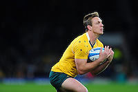 Dane Haylett-Petty of Australia claims the ball. The Rugby Championship match between Argentina and Australia on October 8, 2016 at Twickenham Stadium in London, England. Photo by: Patrick Khachfe / Onside Images