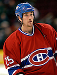 3 February 2007: Montreal Canadiens defenseman Mathieu Dandenault warms up prior to facing the New York Islanders at the Bell Centre in Montreal, Canada. The Islanders defeated the Canadiens 4-2.Mandatory Photo Credit: Ed Wolfstein Photo *** Editorial Sales through Icon Sports Media *** www.iconsportsmedia.com