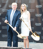 WASHINGTON, DC - JULY 23: Donald and Ivanka Trump at groundbreaking ceremony for the Trump International Hotel on July 23, 2014 in Washington, D.C. Photo Credit: RTNMelvin/MediaPunch