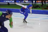SCHAATSEN: HEERENVEEN: IJsstadion Thialf, 07-02-15, World Cup, 500m Ladies Division A, Heather Richardson (USA), ©foto Martin de Jong