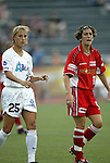 2 August 2003: Nancy Augustyniak (25) and Marinette Pichon (11). The Philadelphia Charge defeated the Atlanta Beat 3-0 at Villanova Stadium in Villanova, PA in a regular season WUSA game.