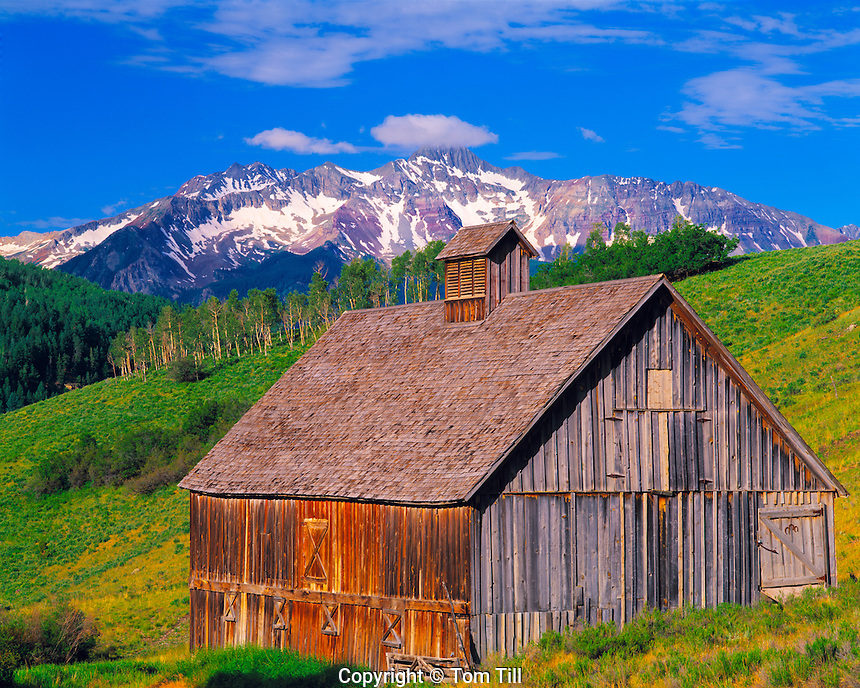 Old barn at Telluride, Tourist ghost town of Telluride, Colorado
