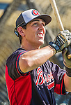 21 March 2015: Atlanta Braves outfielder Joe Odom awaits his turn in the batting cage prior to a Spring Training Split Squad game against the Washington Nationals at Champion Stadium at the ESPN Wide World of Sports Complex in Kissimmee, Florida. The Braves defeated the Nationals 5-2 in Grapefruit League play. Mandatory Credit: Ed Wolfstein Photo *** RAW (NEF) Image File Available ***
