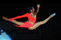 Anna Bessonova of Ukraine split leaps handsfree during gala exhibition at 2006 Portimao World Cup of Rhythmic Gymnastics on September 10, 2006 at Portimao, Portugal.  (Photo by Tom Theobald)