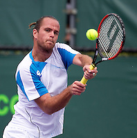 Xavier MALISSE (BEL) against Igor ANDREEV (RUS) in the first round. Andreev beat Malisse 6-4 6-4..International Tennis - 2010 ATP World Tour - Sony Ericsson Open - Crandon Park Tennis Center - Key Biscayne - Miami - Florida - USA - Wed 24 Mar 2010..© Frey - Amn Images, Level 1, Barry House, 20-22 Worple Road, London, SW19 4DH, UK .Tel - +44 20 8947 0100.Fax -+44 20 8947 0117