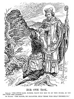 """Her Own Task. Ireland. """"For pity's sake, father, won't you rid us of this snake, as you did with the others?"""" St Patrick. """"The saints, my daughter, help those who help themselves."""""""
