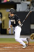 Central Florida Knights infielder Dylan Moore (2) during the season opening game against the Siena Saints at Jay Bergman Field on February 14, 2014 in Orlando, Florida.  UCF defeated Siena 8-1.  (Copyright Mike Janes Photography)