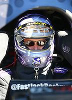May 15, 2016; Commerce, GA, USA; NHRA funny car driver Jack Beckman during the Southern Nationals at Atlanta Dragway. Mandatory Credit: Mark J. Rebilas-USA TODAY Sports