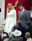 Donald J. Trump, Jr and his sister Ivanka arrive as their father Donald J. Trump will be sworn-in as the 45th President of the United States on the West Front of the US Capitol on Friday, January 20, 2017.<br /> Credit: Ron Sachs / CNP<br /> (RESTRICTION: NO New York or New Jersey Newspapers or newspapers within a 75 mile radius of New York City)